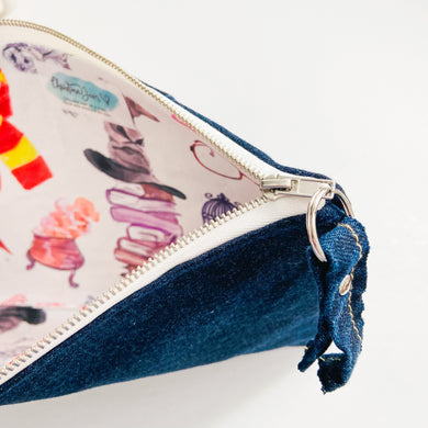 School of Wizards Denim Pouch
