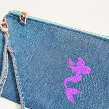 Load image into Gallery viewer, The Little Mermaid Denim Wristlet