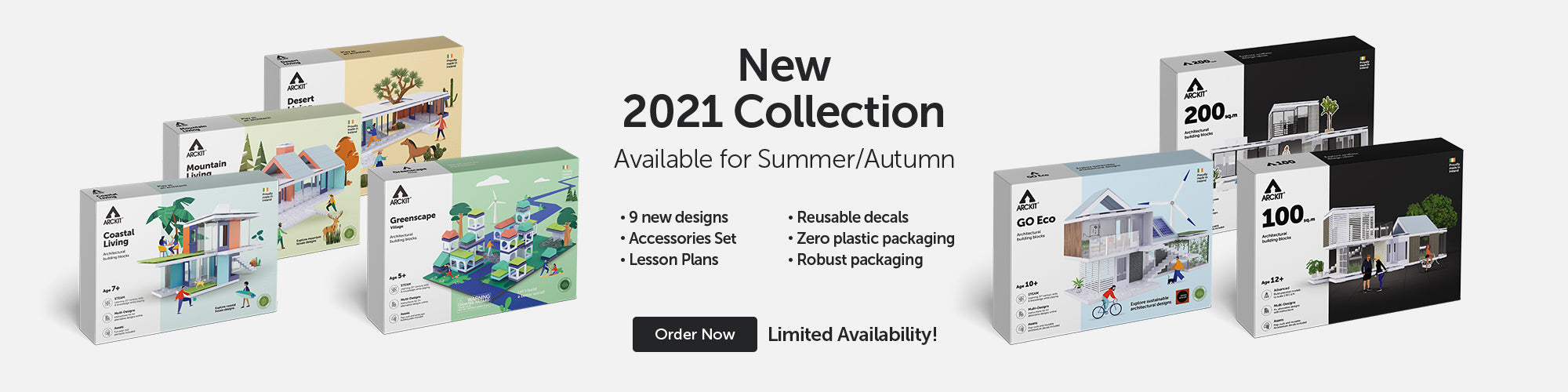 Introducing The All New 2021 Collection of Model Kits from Arckit, Now available for Pre-Order! Architectural model kits trade website