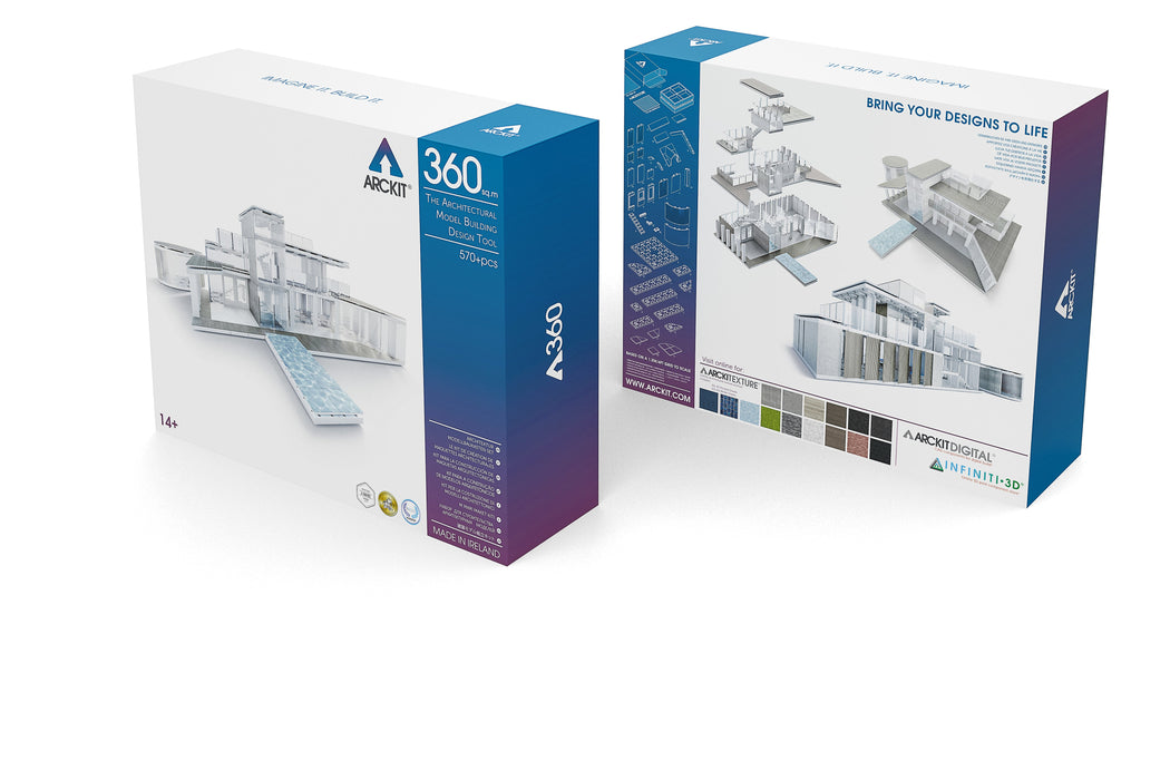 Arckit 360 610+ piece Architectural Modelling Kit (Case Pack of 2)