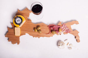 Italy Bamboo Charcuterie Board