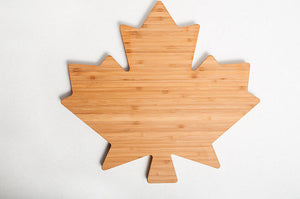 Maple Leaf Bamboo Charcuterie Board