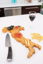 Load image into Gallery viewer, Italy Bamboo Charcuterie Board