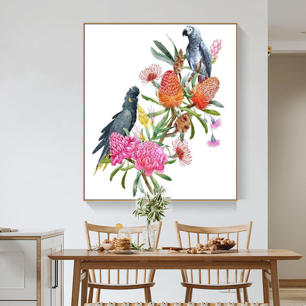 Cockatoos and Flora