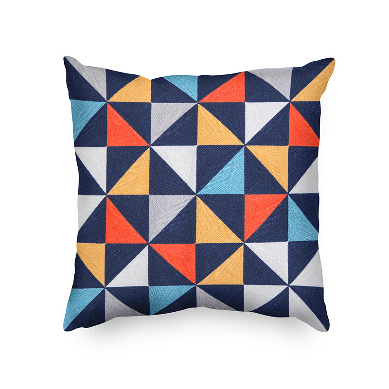 Geometric Nordic Home Decorative Embroidered Cotton Cushion Cover
