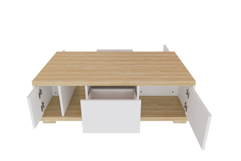 Jessica Coffee Table (NATURAL WHITE)