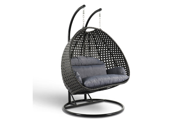 Luxury Wicker Hanging Chair Black