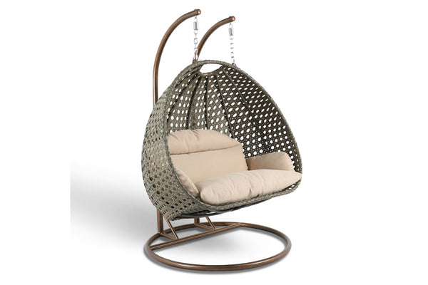Luxury Wicker Swing Chair Gold