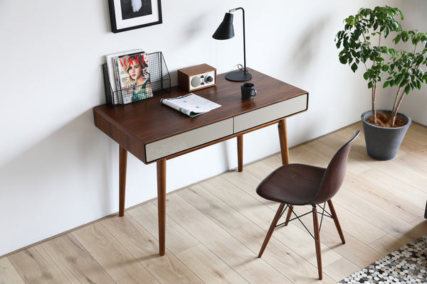 Monica Desk Walnut/Khaki