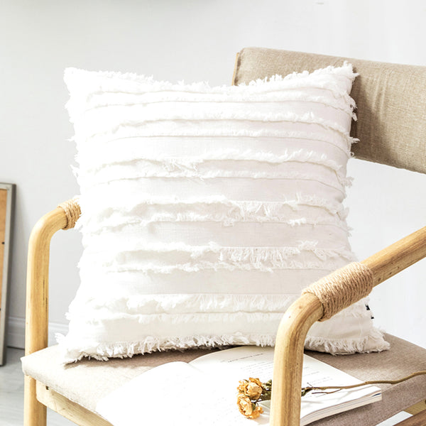Soft Plain Shaggy Cushion Cover