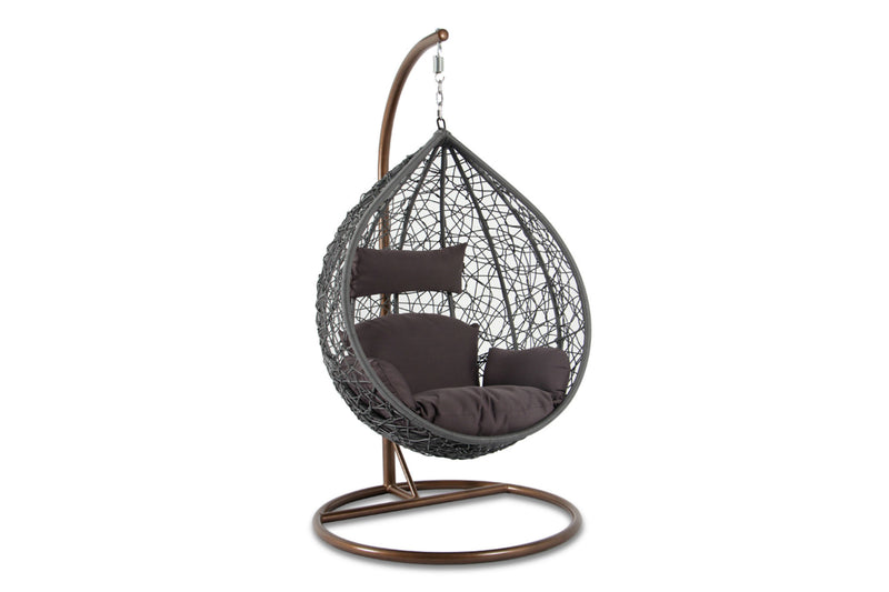 Synthetic Gold Rattan Swing Chair
