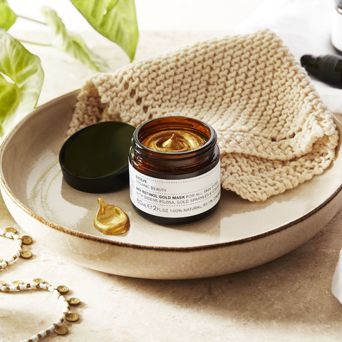 Evolve Beauty Bio Retinol Gold Mask on The Clean Beauty Edit Best Organic and Vegan Skincare Brands
