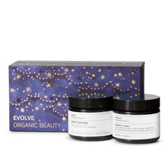 Evolve Organic Beauty Candlelight Glow Christmas Gift Set on The Clean Beauty Edit