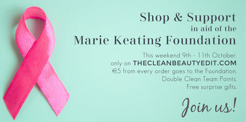 The Clean Beauty Edit Shop & Support for the Marie Keating Foundation