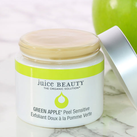 Juice Beauty GREEN APPLE Sensitive Exfoliating Peel Mask on The Clean Beauty Edit