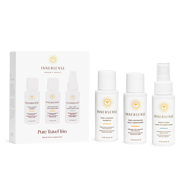 Innersense Organic Beauty Pure Travel Trio on The Clean Beauty Edit