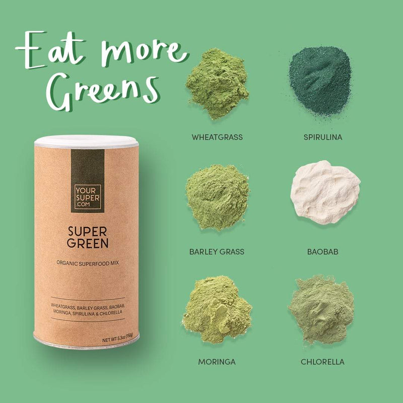 Organic Super Green Mix, 150g - The Clean Beauty Edit