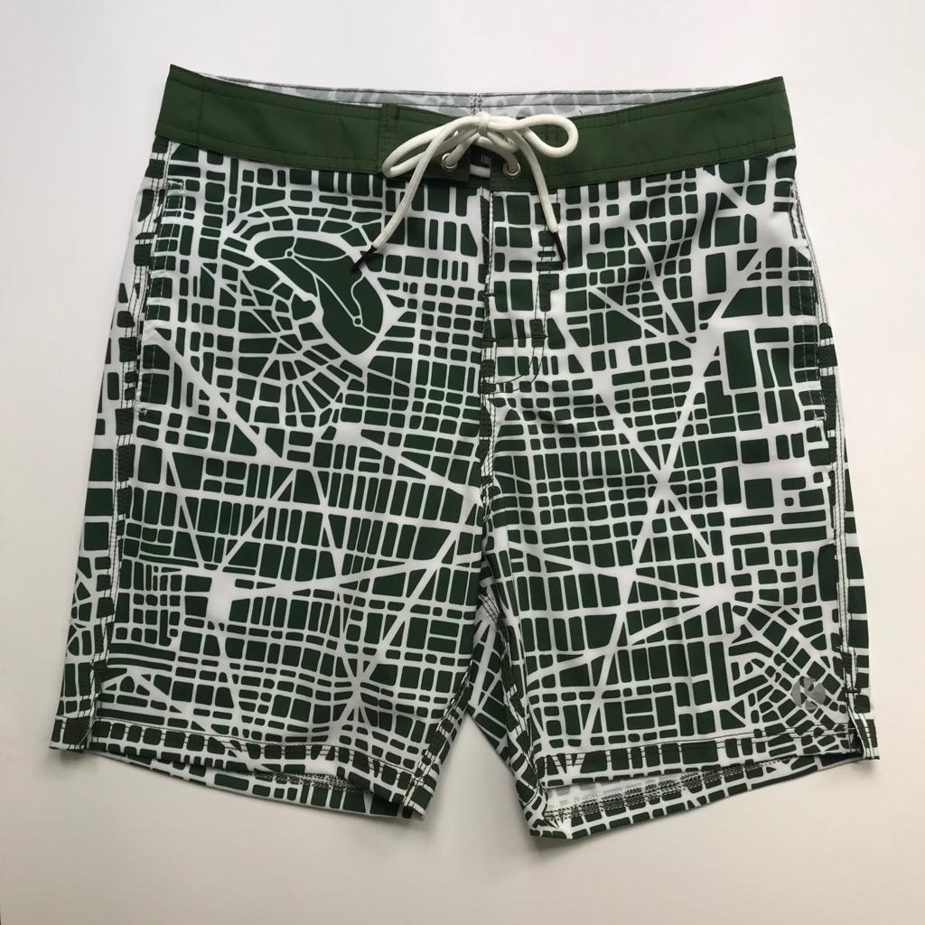 Short kulswimwear maps