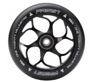 120mm 5 Spoke Wheel - Black/Black