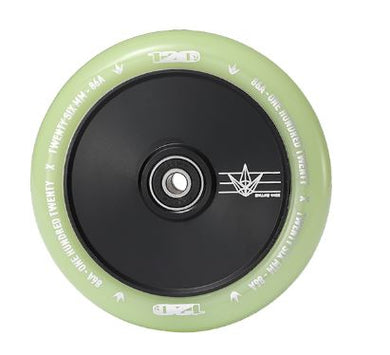 120mm Hollow Core Wheel - Black/Glow in the Dark