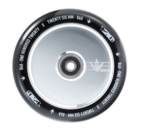 120mm Hollow Core Wheel - Polish/Black