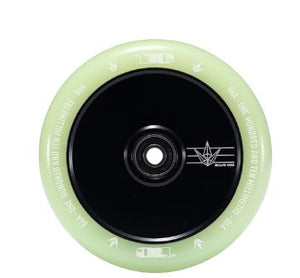 Envy 110mm Hollow Core Wheel - Black / Glow in the Dark