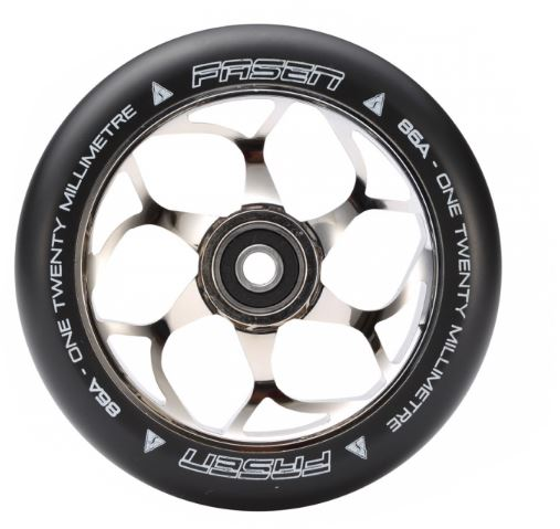 Fasen 120mm Wheel - Chrome/Black