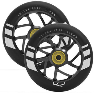 Flight Wheel 110mm Black with Black Core (Pair)