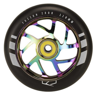 Flight Wheel 110mm Black with Neochrome Core (Pair)
