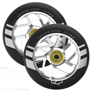 Flight Wheel 110mm Black with Silver Core (Pair)