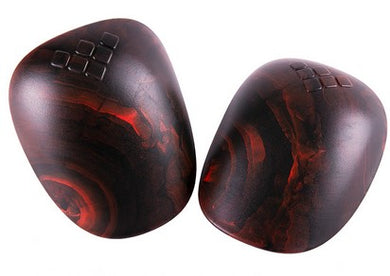 Gain REPLACEMENT PLASTIC CAPS for Hard Shell Knee Pads - Red/Black Swirl