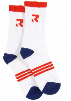 Root Industries Apparel Socks - Three Stripes White