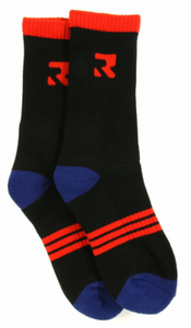 Root Industries Apparel Socks - Three Stripes Black