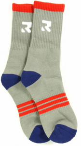 Root Industries Apparel Socks - Three Stripes Grey