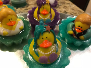 Rubber Duckies Swimming in Soap