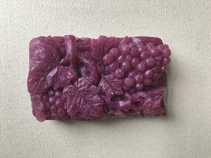 Beautiful rich colors in grapevine soap