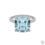 Aquamarine Cushion Cocktail Ring