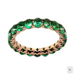 Oval Cut Emerald Eternity Ring
