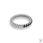 Black and White Eternity Ring