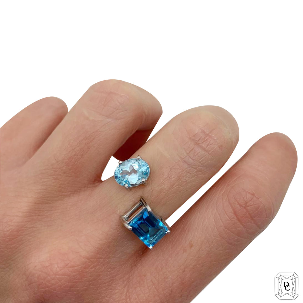Aquamarine and Blue Topaz Ring