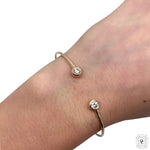 You & Me Diamond 2 Stone Cuff