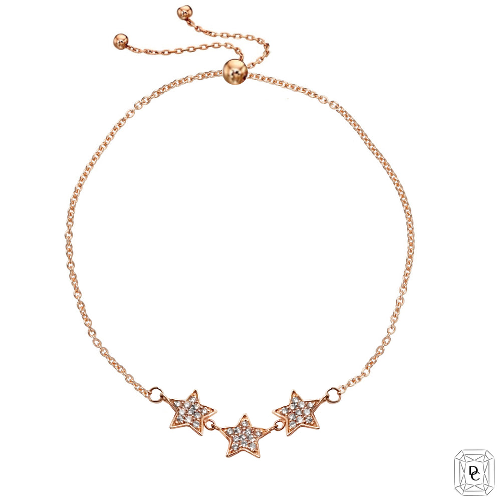 Triple Star Diamond Bracelet