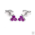 Ruby Trio Stud Earrings