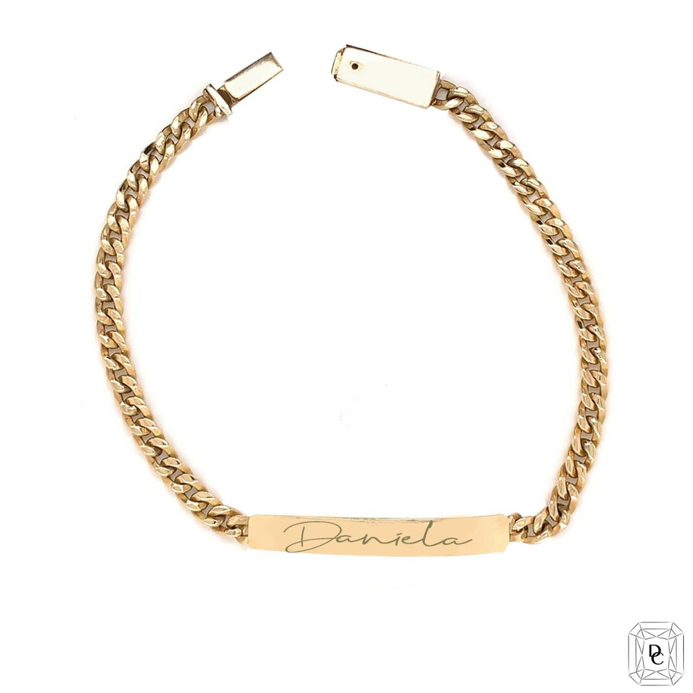Cuban chain & Bar Bracelet