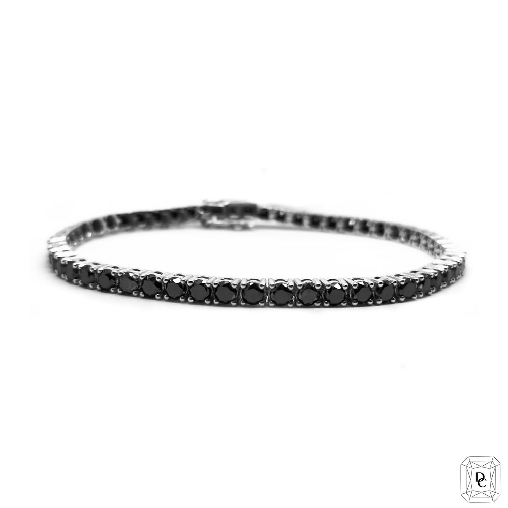 Black Diamond Tennis Bracelet