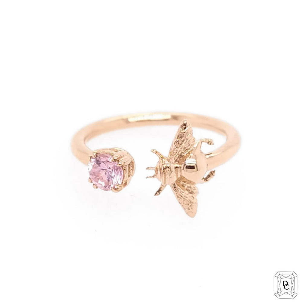 Bee + Pink Sapphire Ring