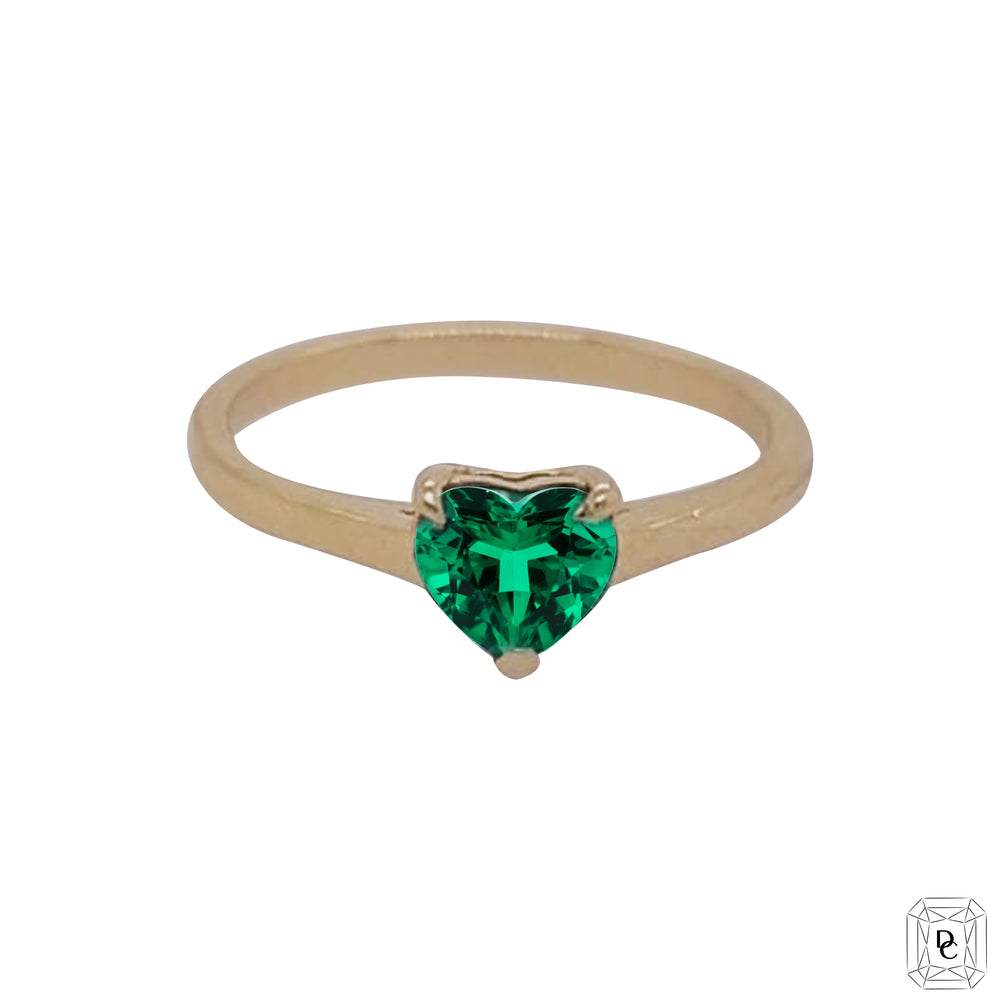 Heart Emerald  Ring