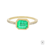 Emerald Bezel Setting Ring
