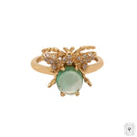 Bee Cabochon Emerald Ring