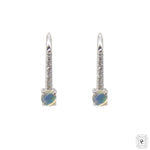 Opal and Diamond Hoops